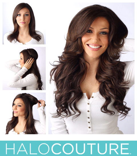 Halo couture hair extension salon